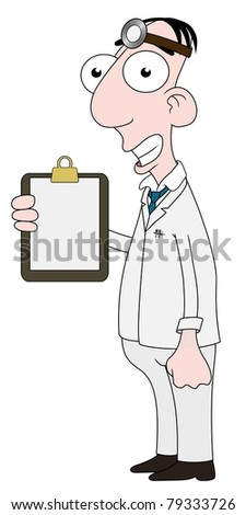 Isolated cartoon Doctor character