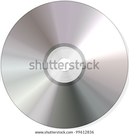 isolated cd on white background