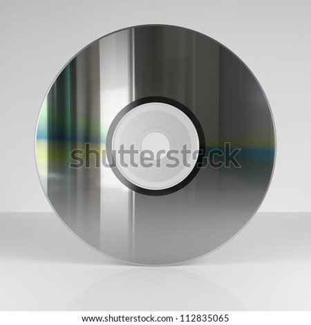 Isolated CD or DVD Support on neutral background
