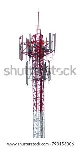 isolated cellular antenna on white background, clipping path #793153006