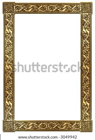 isolated celtic square ornament