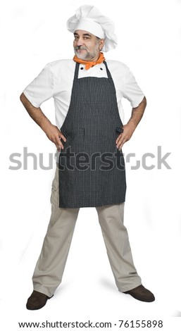 isolated chef