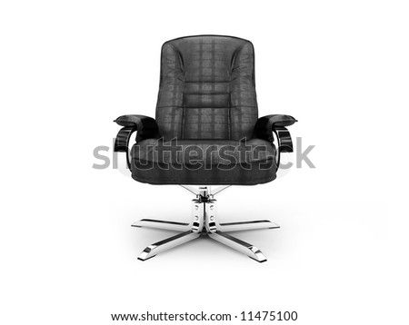 isolated chief armchair on white background