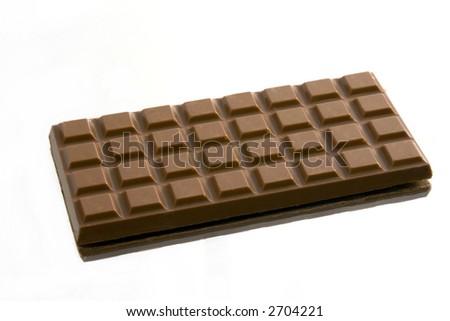 Isolated Chocolate Bar on a Mirror
