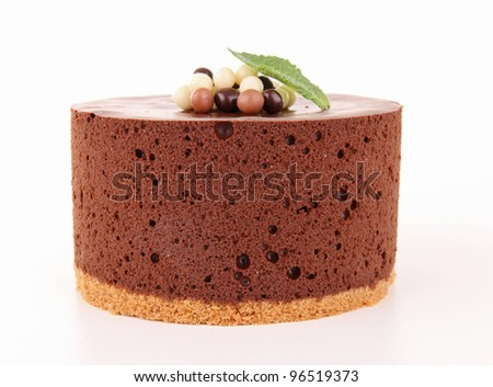 isolated chocolate cake