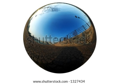 isolated chrome ball