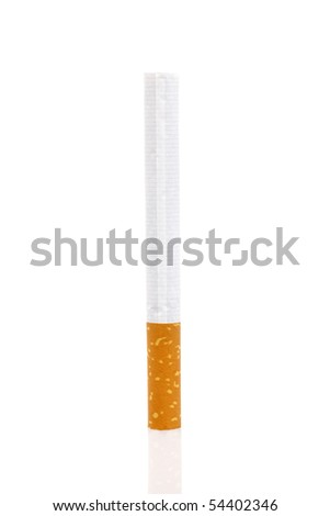 Isolated cigarette on white background