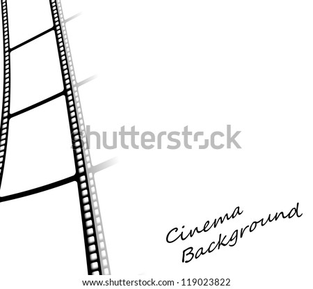 Isolated cinema background with film reel