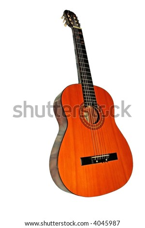 isolated Classical guitar