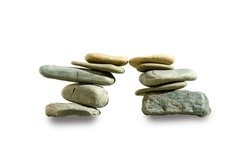 Isolated clipping path of Balanced and stack stones