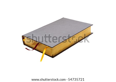 isolated closed bright book of bible