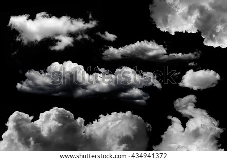 isolated clouds set over black - Shutterstock ID 434941372