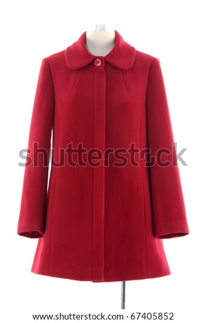 Isolated coat dress on mannequin