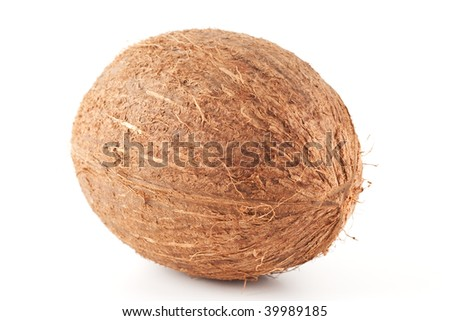 Isolated coconut on white background