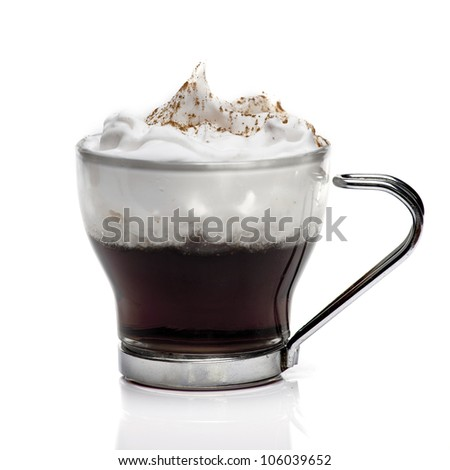 Isolated coffee cup with cream