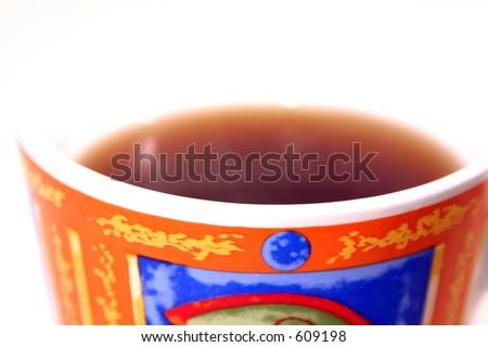 Isolated Coffee Mug with no top - abstract