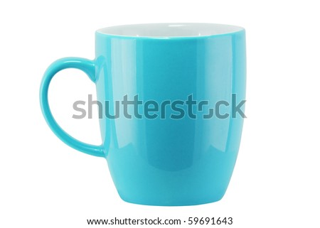 Isolated Color Cup (with clipping path)