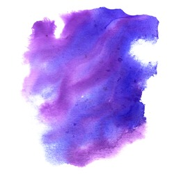 isolated color water spot texture purple blue abstract watercolor