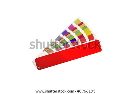 isolated coloured swatches book with blank cover