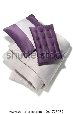 isolated comforter with pillows #1061723057