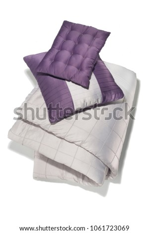 isolated comforter with pillows #1061723069