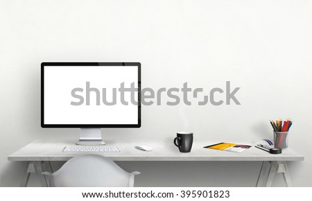 isolated computer display for...