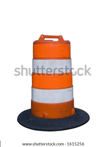 Isolated construction barrier