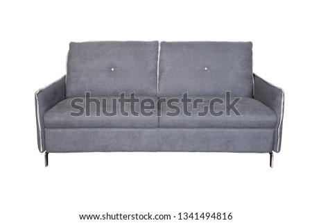 Isolated contemporary grey sofa #1341494816