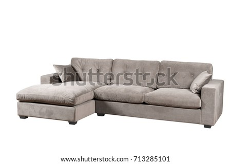 Isolated couch over white background #713285101