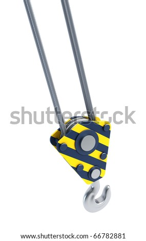 isolated crane hook 3d render