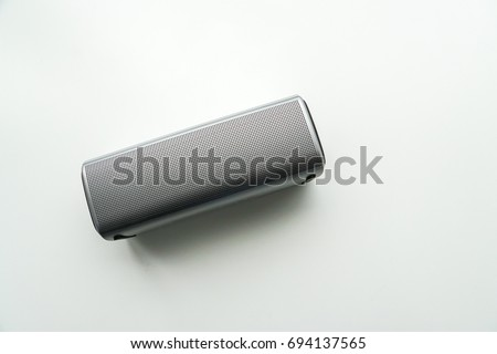 Shutterstock isolated creative design portable wireless bluetooth speaker for music listening