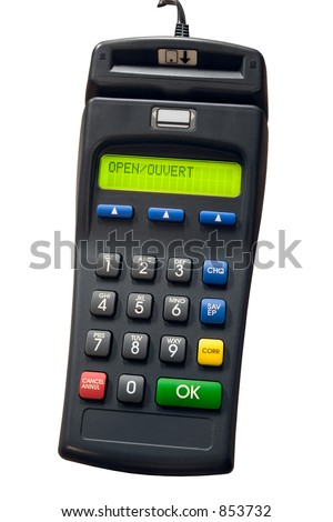 Isolated credit card terminal