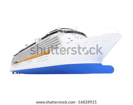 isolated cruiser over white