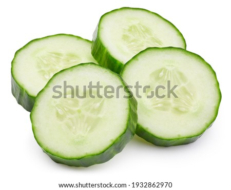 Isolated cucumber. Fresh organic cucumber isolated clipping path. Cucumber macro studio photo. High End Retouching