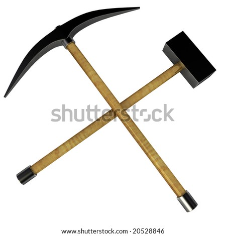Tenten's blog!!! X33 - Page 3 Stock-photo-isolated-d-work-tools-crossed-mining-tools-20528846