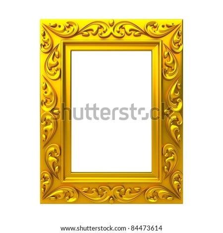 Isolated decorative frame over white background
