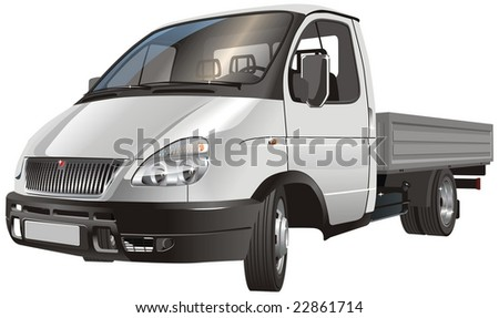 isolated delivery cargo truck