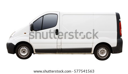 Isolated Delivery Van #577541563