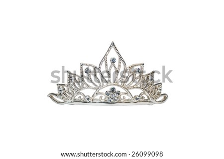 Isolated diadem or tiara on white - stock photo