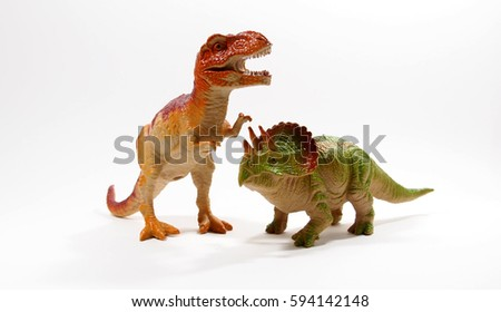 Isolated dinosaur on white background - Shutterstock ID 594142148