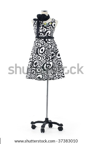 Isolated dress on mannequin