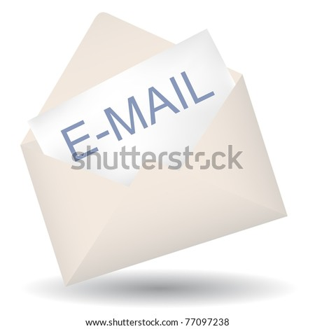 Isolated e-mail icon on white background
