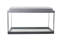 isolated empty fish tank with clipping path
