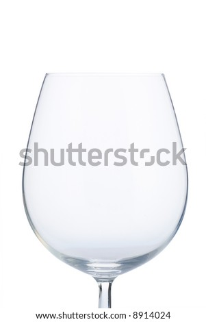 isolated empty wine glass with clipping path