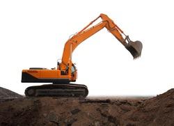 Isolated Excavator