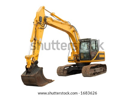 Isolated Excavator with operating weight of 35 000 lb 16 00 kg