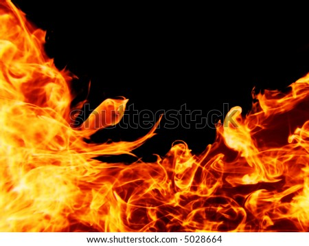 isolated fiery background
