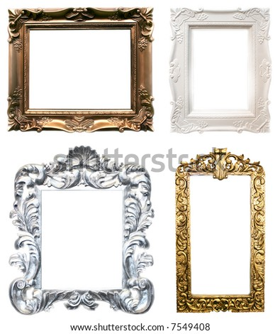 isolated frames in classic style in four colors