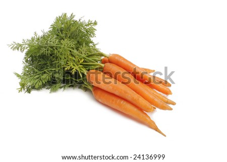 isolated fresh  carrot