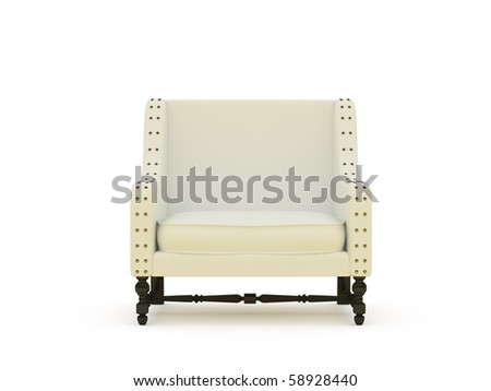 isolated furniture on white background
